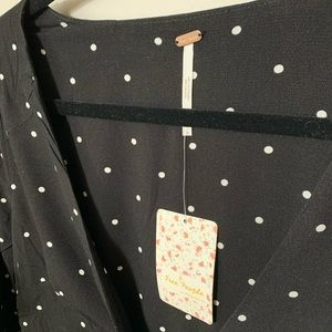 NEW Free People All Yours Polka Dot Mini Dress
